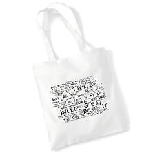 Art Studio Tote Bag MICHAEL JACKSON Lyrics Print Album Poster Beach Shopper Gift