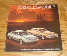 Original 1982 Oldsmobile Cutlass Ciera Supreme Cruiser Omega Sales Brochure 82
