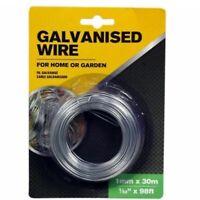Galvanised Garden Gardening Wire 1mm x 30m
