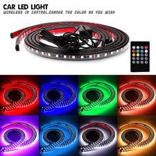 4×RGB Under Car Neon Lights LED Strip Tube Underbody Underglow Glow System Flood