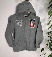 Gap Boy's Sweatshirt Jumper Hoodie Zip-Up Grey 7-8 Years Old