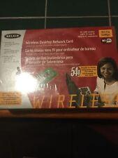 NEW WIRELESS BELKIN DESKTOP PCI NETWORK CARD 802.11g 2.4GHz 54Mbps