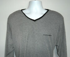 MENS AMERICAN AIRLINES STRIPED V NECK SWEATER LARGE/XLARGE LIGHTWEIGHT