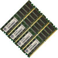 Memory Ram 4 Desktop PC SDRAM PC133 133 MHz 168 pin DIMM SDRAM CL2 3 3.3V 2x Lot