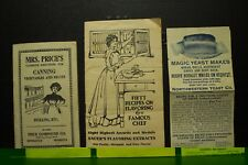 antique old Victorian era canning cooking recipe booklets Sauer's extracts