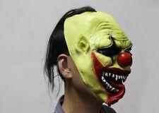 Halloween Scary Green Clown Adult Latex Full Head Mask