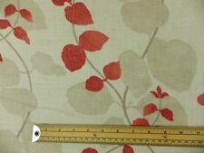 Villa Nova Foxley Red Natural Linen Curtain Fabric Remnant 2 Off Cut job lot