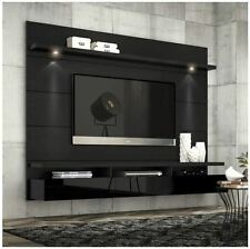 Floating Entertainment Center Tall Wall Unit Tv Stand 60 Inch Screen Mount Black