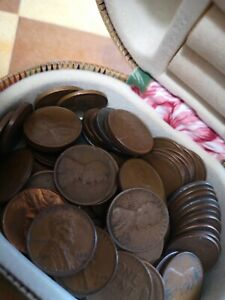 One Cent Usa 1909-1956 Job Lot with vintage box