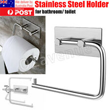 Stainless Steel Suction Cup Toilet Paper Roll Holder Tissue Rack No Drilling Pro