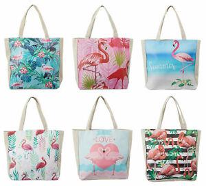 Strandtasche Flamingo XL Badetasche Reisetasche Tasche Tropical Beach Bag Typ609