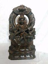 Hindu Goddess Saraswati Devi Sculpture Statue Murti Saras Music God Figurine