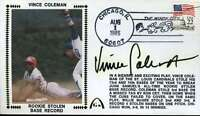 Vince Coleman Jsa Cert Sticker Fdc First Day Cover Authentic Autograph