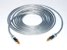 4,00m Mono Subwoofer LFE Kabel DER BASSHAMMER mit Hicon HI-CM07 Cinchsteckern