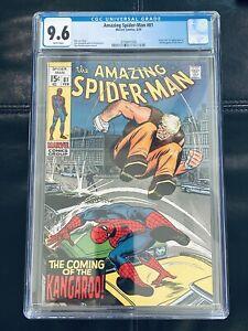 AMAZING SPIDER-MAN #81 CGC 9.6 (1970) Beautiful!! NM+ 1st Kangaroo! White Pages!