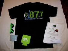 87.7 FM Cleveland's Sound Radio Promo Kit T-Shirt, Sticker, Sun Glasses, Koozie