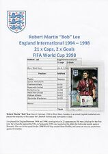Bob Lee Inglaterra International 1994-1998 Original Firmado Merlin tarjeta