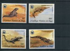 1987 WWF CONGO Crocodile of the Congo 4V MNK POST FREE