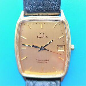 Elegante Omega Quartz Unisex Wrist Watch, New Battery, New Glas Good Function