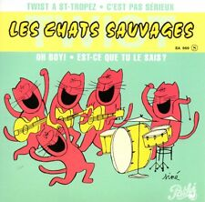 ★☆★ CD SINGLE Les CHATS SAUVAGES & Dick RIVERS Twist à St-Tropez  EP REPLICA ★☆★