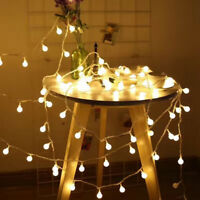 LED Globe Ball String Light Battery Operated Fairy Lights Garden Home Decor