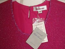 NEW SUPERB PINK BEADED KALEIDOSCOPE VEST CAMISOLE TOP SIZE 14 # 918