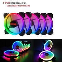 5pcs Game RGB 16.8 Million Color LED Ring PC 12cm  Max Eclipse Case Fan Cooler