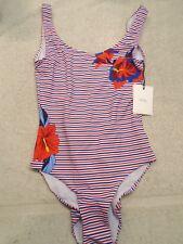 Onia Kelly Hibiscus Striped one-piece Swimsuit NWT Medium $195