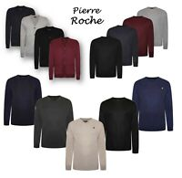 Pierre Roche Mens King Big Tall Long Sleeve Soft Pullover Knitted Sweater Tops