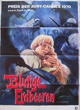 BLUTIGE ERDBEEREN Filmplakat Poster BRUCE DAVISON The Strawberry Statement 1970