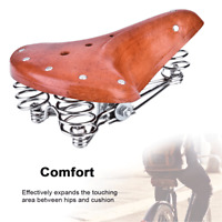 PU Leather Bicycle Saddle Retro Bike Seat Cushion With Springs Durable US