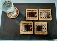 THE DOORS LIVE 4 CORK DRINK COASTERS / POSAVASOS DE CORCHO