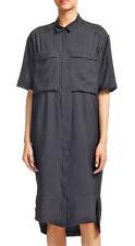 BNWT WHISTLES Longline Black Shirt Dress UK8/10/12 Oversized Midi Tunic