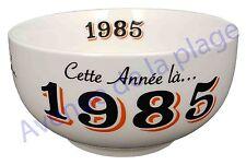 Bol année de naissance 1985 en grès - idée cadeau anniversaire neuf