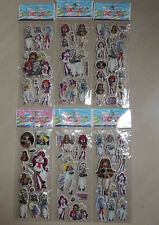 6 MONSTER HIGH STICKERS PARTY LOOT LOLLY BAG FILLER FAVOR GIFT SCRAPBOOKING