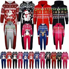 Kids Girls Boys Novelty Christmas Santa Reindeer A2Z Onesie One Piece Jumpsuit