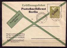 Berlino Michel numero 17 UFFICIALE FDC per il servizio postale rapidamente documenti giustificativi (: 124)
