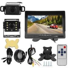 "1280*720P 7"" IPS Screen Car TV Parking Monitor W/ DVR Digital Video LED Camera"