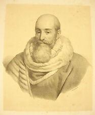 LITHOGRAPHIE par Ducarme portrait du Ministre et comte Louis-Mathieu Molé XIXéme