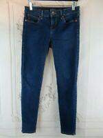 JCP JCPenney's Womens Blue Denim Jeans Petite Size 4 Low Rise Skinny Dark Wash