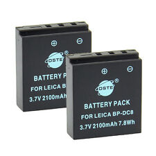 DSTE 2x BP-DC8 Battery For Leica X1 X2 MINI-M X-VARIO