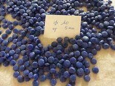 perle vintage, lot de 400 perle en verre ronde et plate bleu lapis à laver