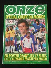 REVISTA ONZE FUTBOL ESPECIAL MUNDIAL MEXICO 86 - FINALES EUROPEAS 1985-86