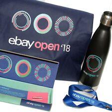 eBay Open 2018 Swag Bag, Water Bottle, Lapel Pin, Lanyard, Ebayana Ebay Stuff