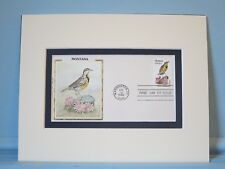 State Bird & Flower of Montana - West Meadowlark & Bitterroot & First Day Cover