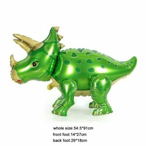 4D Large Green Dinosaur Foil Balloon Baby Shower Kids Birthday Party Decoration