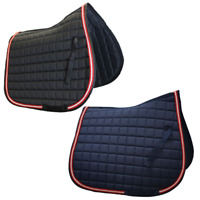 Gallop High Wither Vented Saddle Pad Saddlecloth- Navy Black - Full size