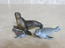 Lot of 3 Schleich Rare retired Seals family pup 14169 Seal Lion 14365 seal 14171