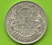 1948 Canada Silver 50 Cent Piece (Narrow Date) 11.66 Grams .800