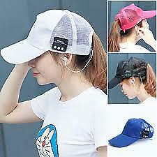 Smart Baseball Hat Cap Wireless Bluetooth Music Headset Usb Charging X7B7